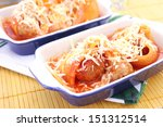 pasta with meat | Shutterstock . vector #151312514