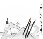 vector drawing tools. school... | Shutterstock .eps vector #151313075