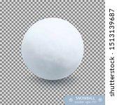 realistic snow ball vector... | Shutterstock .eps vector #1513139687