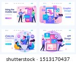 set flat 2d concepts online... | Shutterstock .eps vector #1513170437