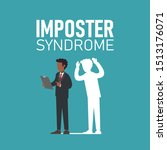 imposter syndrome.  african... | Shutterstock .eps vector #1513176071