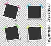 blank photo frames. empty blank ... | Shutterstock .eps vector #1513178384