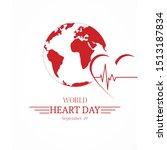 world heart day september 29. | Shutterstock . vector #1513187834