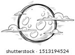 cartoon graphic black and white ... | Shutterstock .eps vector #1513194524
