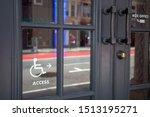 handicapped access entrance...   Shutterstock . vector #1513195271
