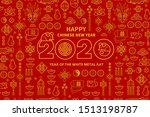 Line Art Vector Banner With...