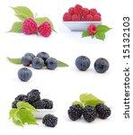 fresh berries on white... | Shutterstock . vector #15132103