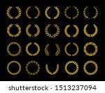 set of different golden... | Shutterstock .eps vector #1513237094