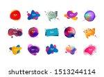 geometric colorful badges set.... | Shutterstock .eps vector #1513244114