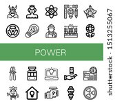 set of power icons such as... | Shutterstock .eps vector #1513255067