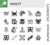 set of insect icons such as... | Shutterstock .eps vector #1513256471