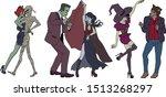 Halloween. Dancing Monsters....