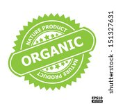 organic rubber stamp sign.... | Shutterstock .eps vector #151327631