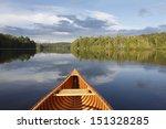 Bow Of A Cedar Canoe On A...