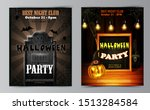 halloween party flyer with... | Shutterstock .eps vector #1513284584
