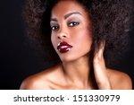 stunning portrait of an african ...   Shutterstock . vector #151330979