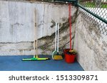 cleaning tools near the wall | Shutterstock . vector #1513309871