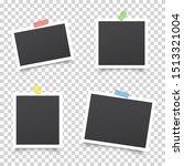 realistic set of photo frames.... | Shutterstock .eps vector #1513321004