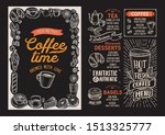 coffee menu template for... | Shutterstock .eps vector #1513325777