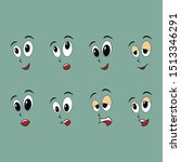 funny faces for your pictures.   Shutterstock .eps vector #1513346291