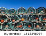 A Pile Of Lobster Pots Stacked...