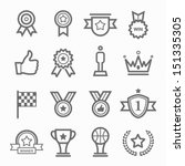 trophy and prize symbol line... | Shutterstock .eps vector #151335305