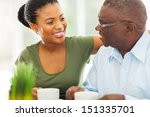 smiling elderly african... | Shutterstock . vector #151335701