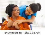 happy senior patient with... | Shutterstock . vector #151335704