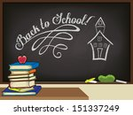 back to school poster  with...   Shutterstock .eps vector #151337249