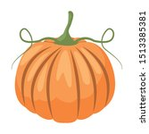 autumn pumpkin fruit seasonal...   Shutterstock .eps vector #1513385381