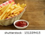 traditional french fries with... | Shutterstock . vector #151339415