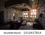 Abandoned And Ruined Kitchen Of ...