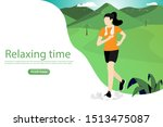 exercise and relax time concept....   Shutterstock .eps vector #1513475087