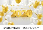 happy new year 2020 background. ...   Shutterstock .eps vector #1513477274