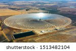 Aerial View Of A Large Solar...