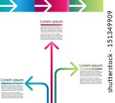 modern arrow info graphic  | Shutterstock .eps vector #151349909
