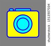 camera icon outline colored....