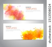 design banner with watercolor... | Shutterstock .eps vector #1513508024