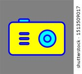 camera icon with outline and...