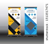 roll up banner stand template...   Shutterstock .eps vector #1513517471
