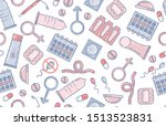 contraception methods  birth... | Shutterstock .eps vector #1513523831