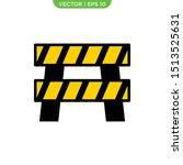 roadblock flat icon vector... | Shutterstock .eps vector #1513525631