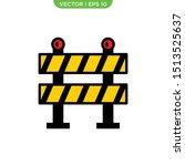 roadblock flat icon vector... | Shutterstock .eps vector #1513525637