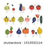 collection of cute cheerful... | Shutterstock .eps vector #1513532114