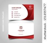 modern business card design...   Shutterstock .eps vector #1513557677