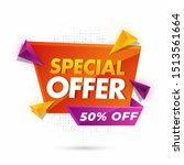 special offer sale label or... | Shutterstock .eps vector #1513561664