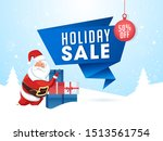 holiday sale ribbon or poster... | Shutterstock .eps vector #1513561754