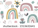 vector seamless pattern with... | Shutterstock .eps vector #1513632641