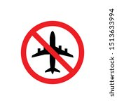 do not fly vector icon. no... | Shutterstock .eps vector #1513633994
