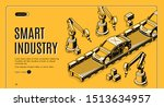 smart industry isometric... | Shutterstock .eps vector #1513634957